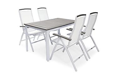 Hillerstorp Nydala Spisegruppe 90x150-200+4 Posisjonsstoler
