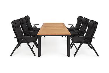 Hillerstorp Nydala Spisegruppe 96x150-200+6 Posisjonsstoler
