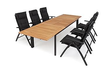 Hillerstorp Nydala Spisegruppe 96x200-280+6 Posisjonsstoler