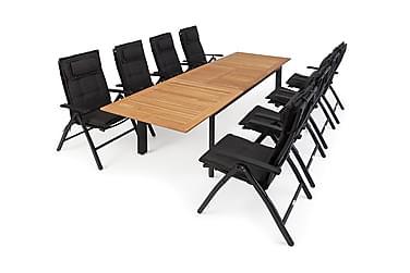 Hillerstorp Nydala Spisegruppe 96x200-280+8 Posisjonsstoler