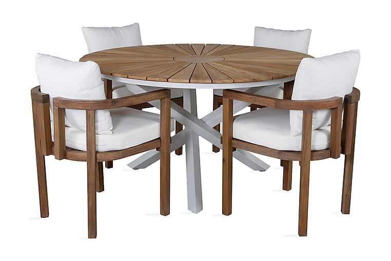 Miami Spisebord med 4 Ericton Spisestoler - Hagemøbler - Spisegrupper hage - Komplette spisegrupper