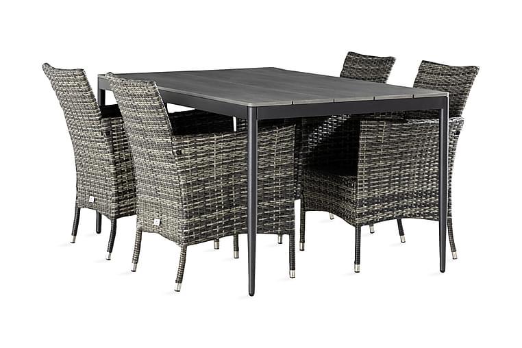 Zaide Spisebord 150 cm + 4 stk Thor Lenestoler - Hagemøbler - Spisegrupper hage - Komplette spisegrupper