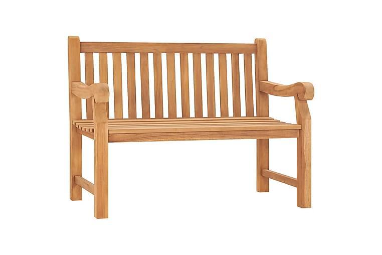 Hagebenk 120 cm heltre teak - Hagemøbler - Sofaer & benker - Benker