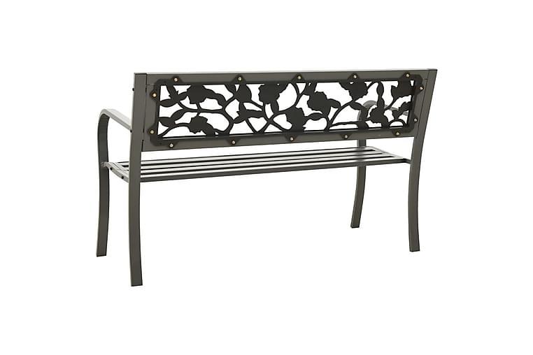 Hagebenk 125 cm stål grå - Grå - Hagemøbler - Sofaer & benker - Benker