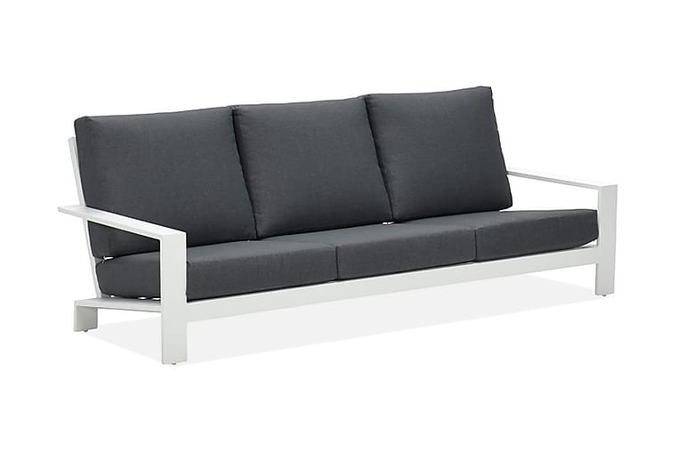 Lincoln 3-seter Benk Hvit/Svart - Garden Impressions - Hagemøbler - Sofaer & benker - Benker