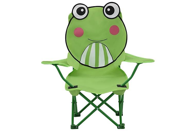 Hagestoler til barn 2 stk grønn stoff - Grønn - Hagemøbler - Stoler & Lenestoler - Spisestoler