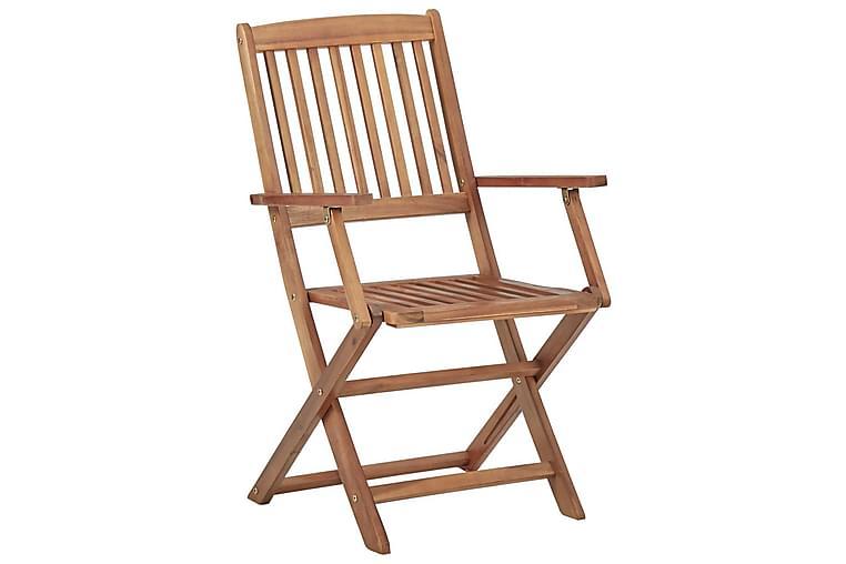 Klappstoler 2 stk heltre akasie - Hagemøbler - Stoler & Lenestoler - Posisjonsstoler