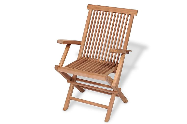 Klappstoler 2 stk heltre teak - Teak - Hagemøbler - Stoler & Lenestoler - Posisjonsstoler