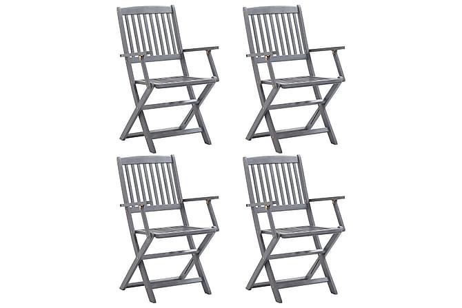 Klappstoler 4 stk heltre akasie - Hagemøbler - Velg etter materiale - Kunstrotting