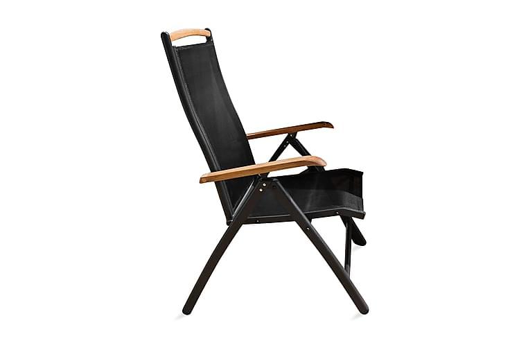 Panama Posisjonsstol - Svart/Teak - Hagemøbler - Stoler & Lenestoler - Posisjonsstoler