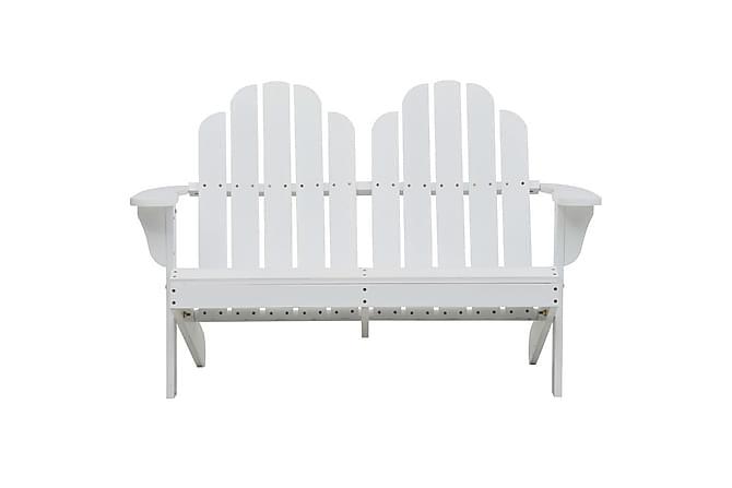 Dobbel Adirondack stol tre hvit - Hagemøbler - Stoler & Lenestoler - Utelenestoler