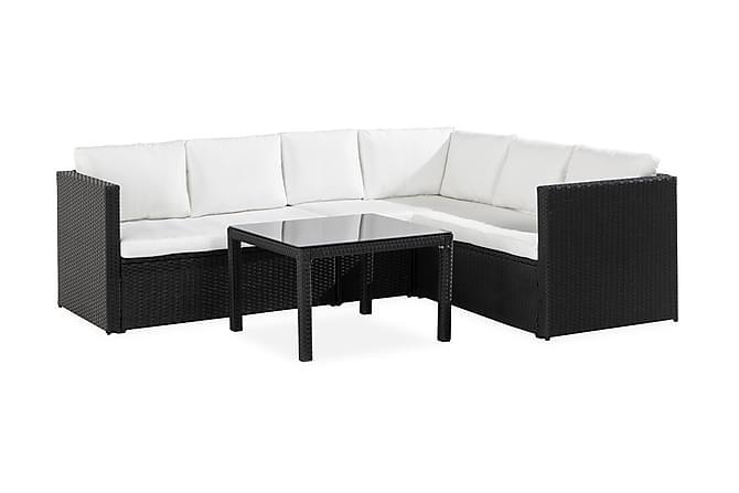 Bahamas Light Loungegruppe - Svart/Hvit - Hagemøbler - Loungemøbler - Sofagrupper (ute)