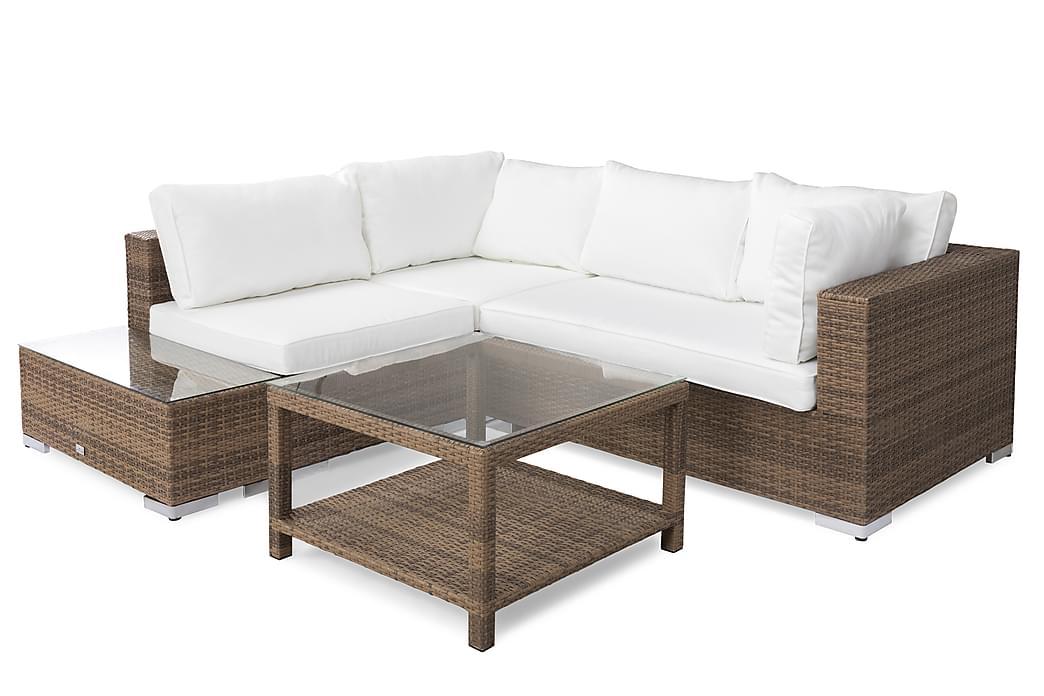 Bahamas Loungegruppe 4 Pers Bord 75x75 - Avslutning Sand - Hagemøbler - Loungemøbler - Loungegrupper