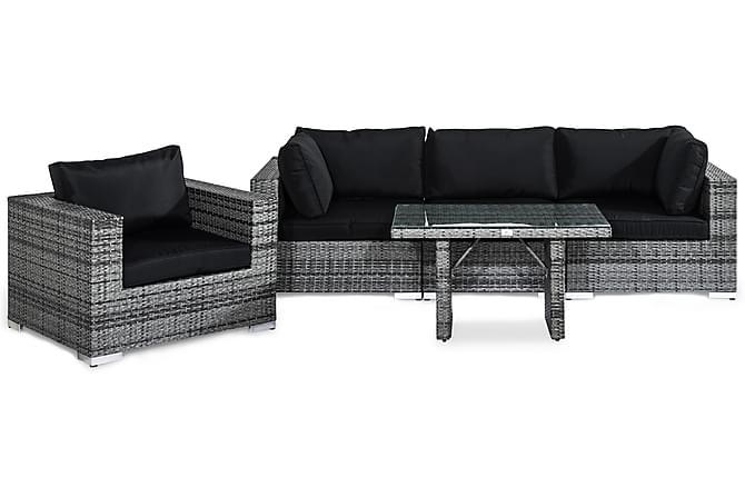 Bahamas Loungegruppe 4-seter - Grå Bord Lenestol - Hagemøbler - Loungemøbler - Loungegrupper