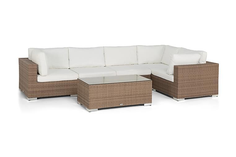 Bahamas Loungegruppe 5 Pers Bord - Sand - Hagemøbler - Loungemøbler - Loungegrupper