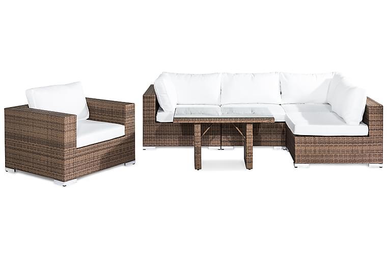 Bahamas Loungegruppe 5-seter - Sand Bord Lenestol - Hagemøbler - Loungemøbler - Loungegrupper