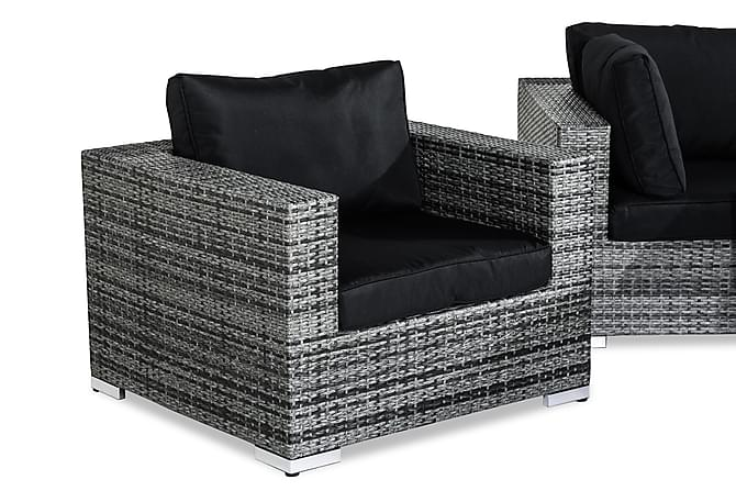 Bahamas Loungegruppe 6-seter - Grå Bord Lenestol - Hagemøbler - Loungemøbler - Loungegrupper