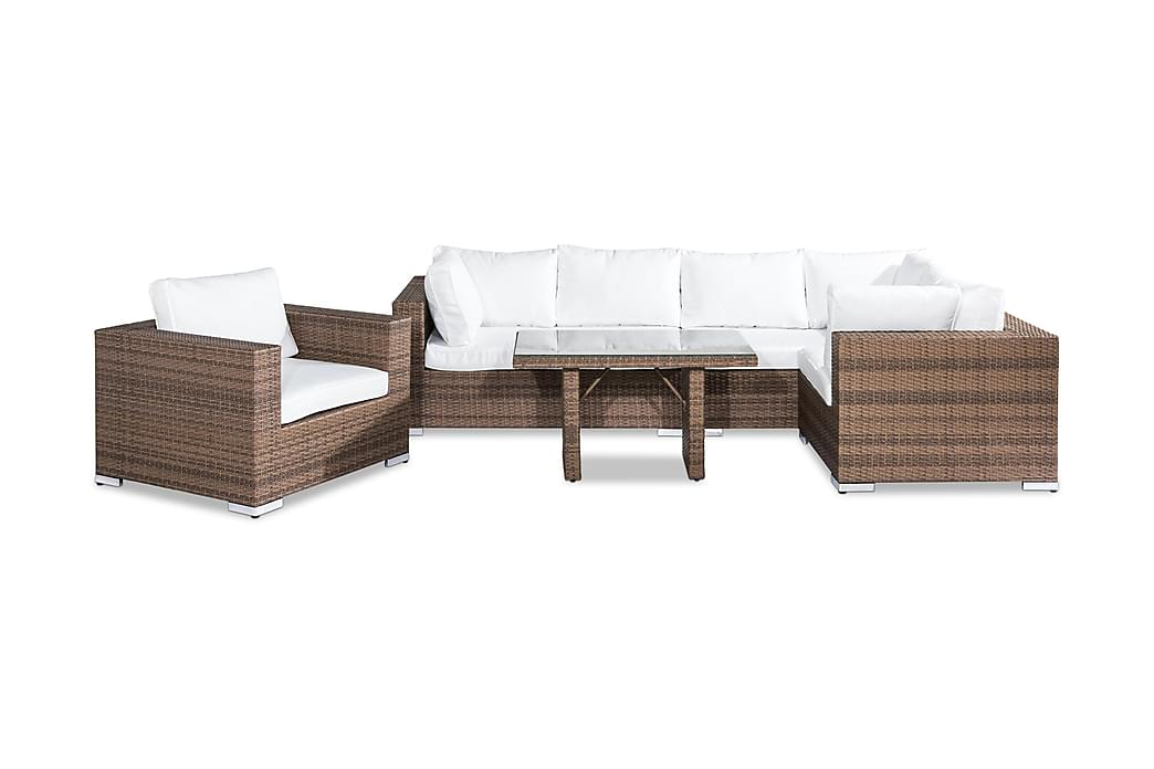 Bahamas Loungegruppe 6-seter - Sand Bord Lenestol - Hagemøbler - Loungemøbler - Loungegrupper