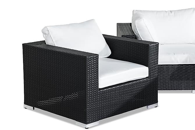 Bahamas Loungegruppe 6-seter - Svart Bord Lenestol - Hagemøbler - Loungemøbler - Loungegrupper