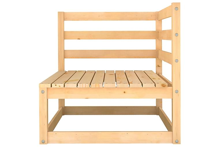 Hagesofagruppe 9 deler heltre furu - Brun - Hagemøbler - Loungemøbler - Loungegrupper