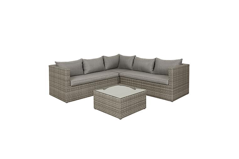 Korfu Sofagruppe - Lysegrå - Hagemøbler - Loungemøbler - Loungegrupper
