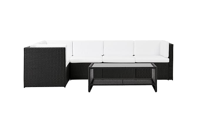 ROLLS Gruppe Medium 2 + Bord Hylla Svart/Hvit - Hagemøbler - Loungemøbler - Loungegrupper
