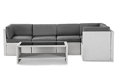 Rolls Loungegruppe 5 pers Hvit