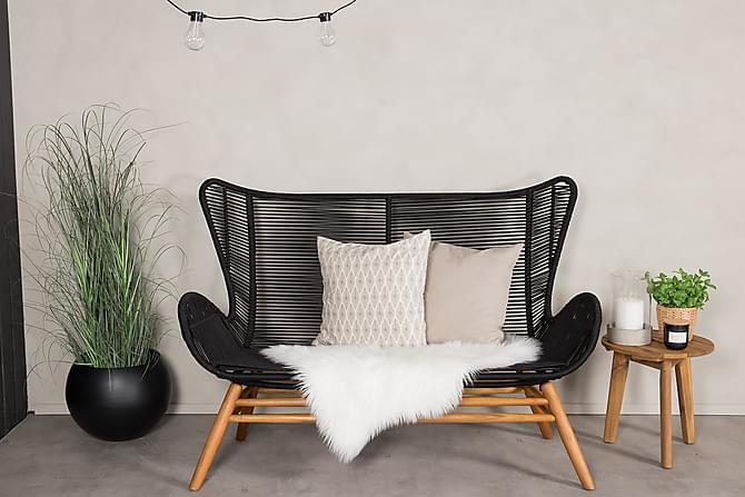 Bagheera Sofa - Svart/Natur - Hagemøbler - Loungemøbler - Loungesofaer