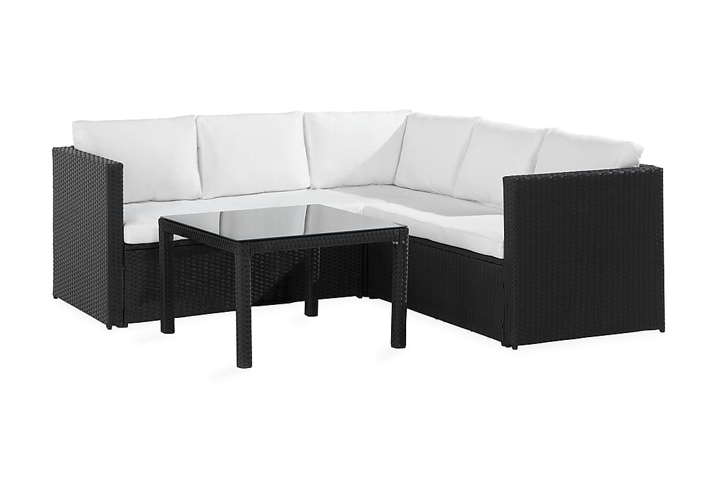 Bahamas Light Loungegruppe - Svart/Hvit - Hagemøbler - Loungemøbler - Loungesofaer