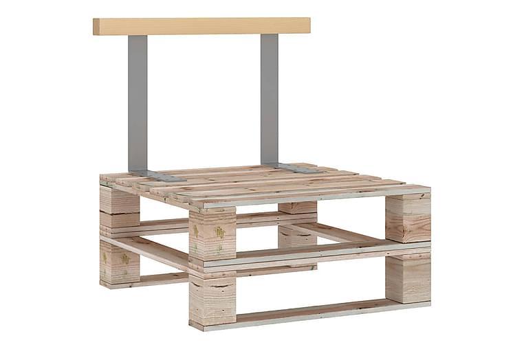 Ryggstøtte for pallesofa 70 cm heltre furu - Brun - Hagemøbler - Loungemøbler - Loungesofaer