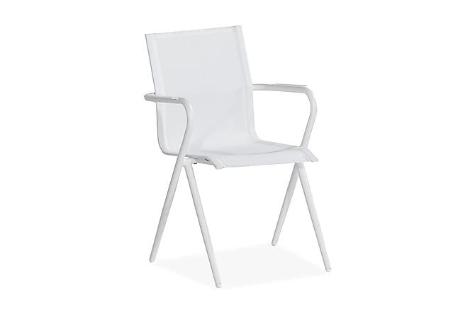 Cannes Spisestol - Hvit - Hagemøbler - Velg etter materiale - Aluminium & stål