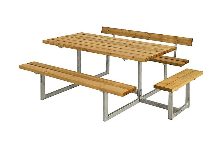 Basic bord- og benkesett med 1 ryggstøtte + 1 påbygging - Hagemøbler - Velg etter materiale - Tre & teak