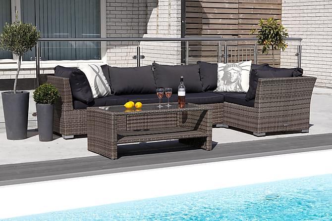 Komplett møbeltrekk passer 110133 - Grå - Hagemøbler - Puter - Utendørstrekk