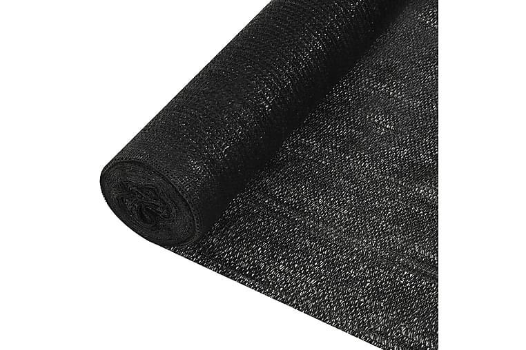 Skjermnett svart 1,2x10 m HDPE 150 g/m² - Svart - Hagemøbler - Solbeskyttelse - Avskjerming & vindskjerm