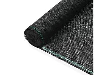 Tennisskjerm HDPE 2x50 m svart