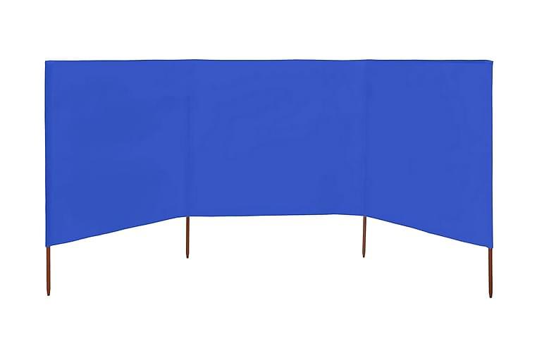 Vindskjermer 3 paneler stoff 400x120 cm asurblå - Blå - Hagemøbler - Solbeskyttelse - Avskjerming & vindskjerm