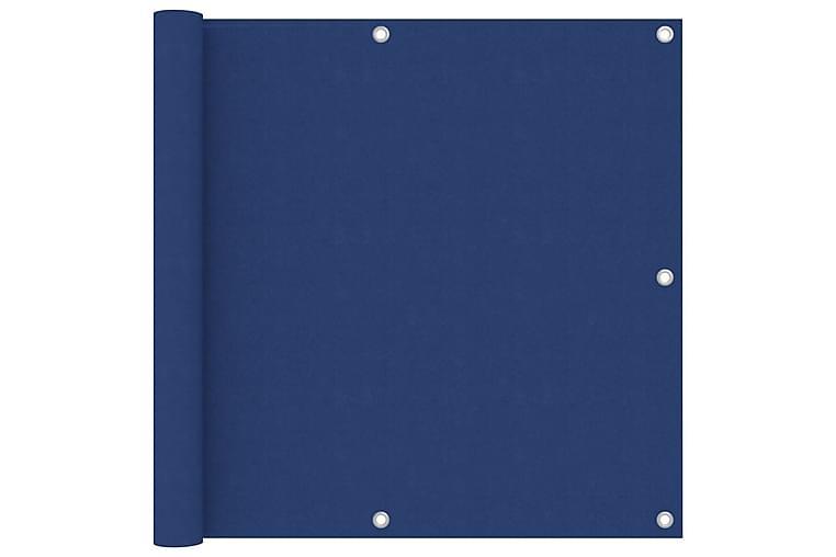 Balkongskjerm blå 90x500 cm oxfordstoff - Blå - Hagemøbler - Solbeskyttelse - Balkongbeskyttelse