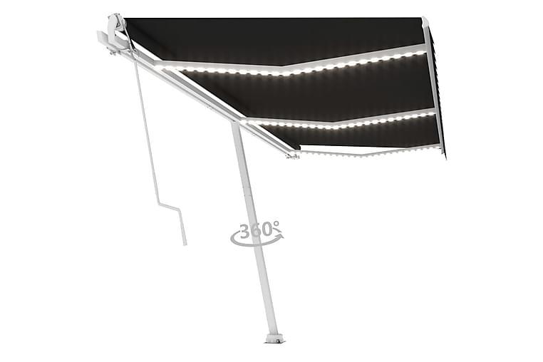 Automatisk markise med vindsensor og LED 600x300 cm - Antrasittgrå - Hagemøbler - Solbeskyttelse - Markiser