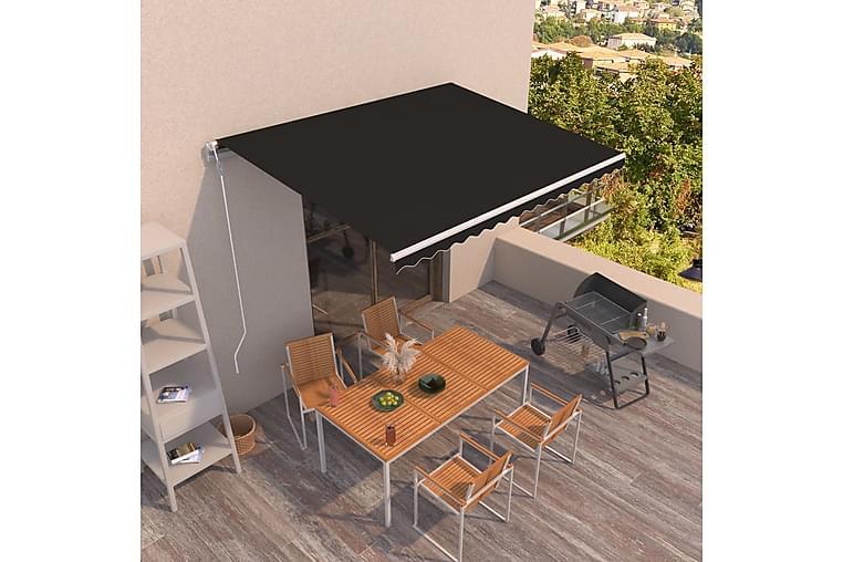 Automatisk uttrekkbar markise 400x350 cm antrasitt - Antrasittgrå - Hagemøbler - Solbeskyttelse - Markiser