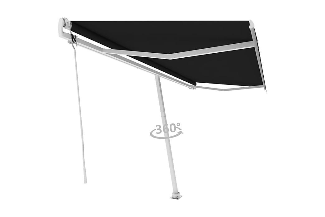Frittstående automatisk markise 500x300 cm antrasitt - Antrasittgrå - Hagemøbler - Solbeskyttelse - Markiser