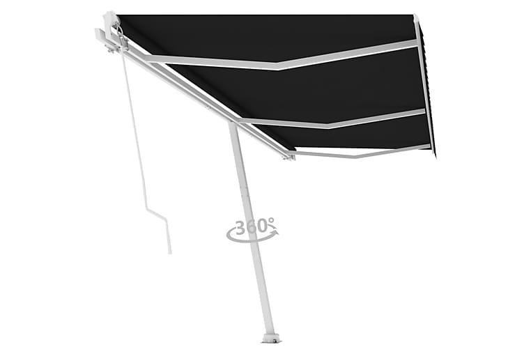Frittstående manuell uttrekkbar markise 600x350 cm antrasitt - Antrasittgrå - Hagemøbler - Solbeskyttelse - Markiser