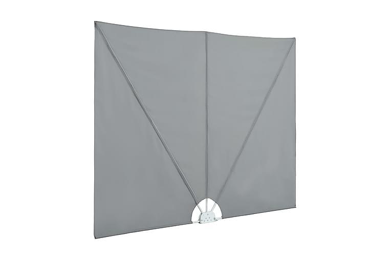 Sammenleggbar sidemarkise for terrasse grå 300x150 cm - Hagemøbler - Solbeskyttelse - Markiser