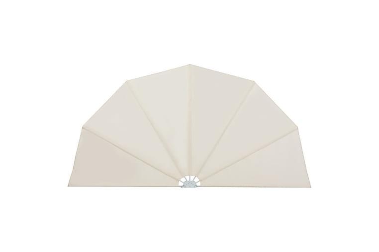 Sammenleggbar sidemarkise for terrasse krem 160 cm - Hagemøbler - Solbeskyttelse - Markiser