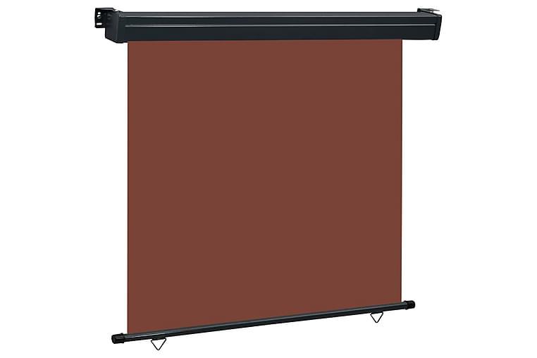 Sidemarkise for balkong 170x250 cm brun - Brun - Hagemøbler - Solbeskyttelse - Markiser
