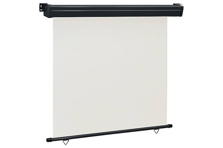 Sidemarkise for balkong 170x250 cm kremhvit - Krem - Hagemøbler - Solbeskyttelse - Markiser