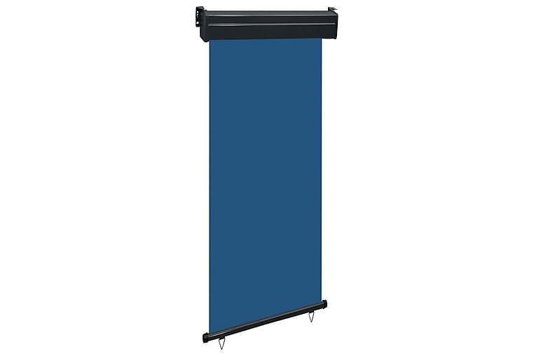 Sidemarkise for balkong 80x250 cm blå - Blå - Hagemøbler - Solbeskyttelse - Markiser