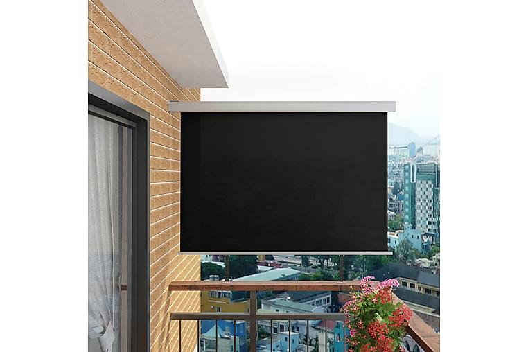 Sidemarkise for balkong multifunksjonell 180x200 cm svart - Hagemøbler - Solbeskyttelse - Markiser