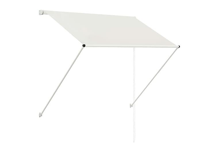 Uttrekkbar markise 150x150 cm kremhvit - Hagemøbler - Solbeskyttelse - Markiser