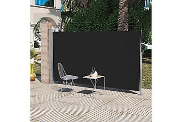 Uttrekkbar sidemarkise 180x300 cm svart
