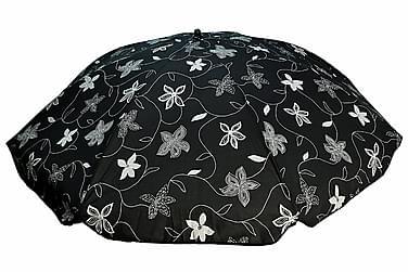 Bomulls parasoll 200 cm:Deco svart
